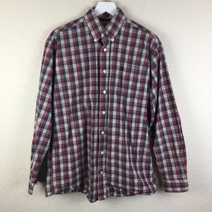 Cinch Red Plaid Western Outdoor Shirt